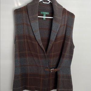 Ralph Lauren Medium Plaid Sweater Vest